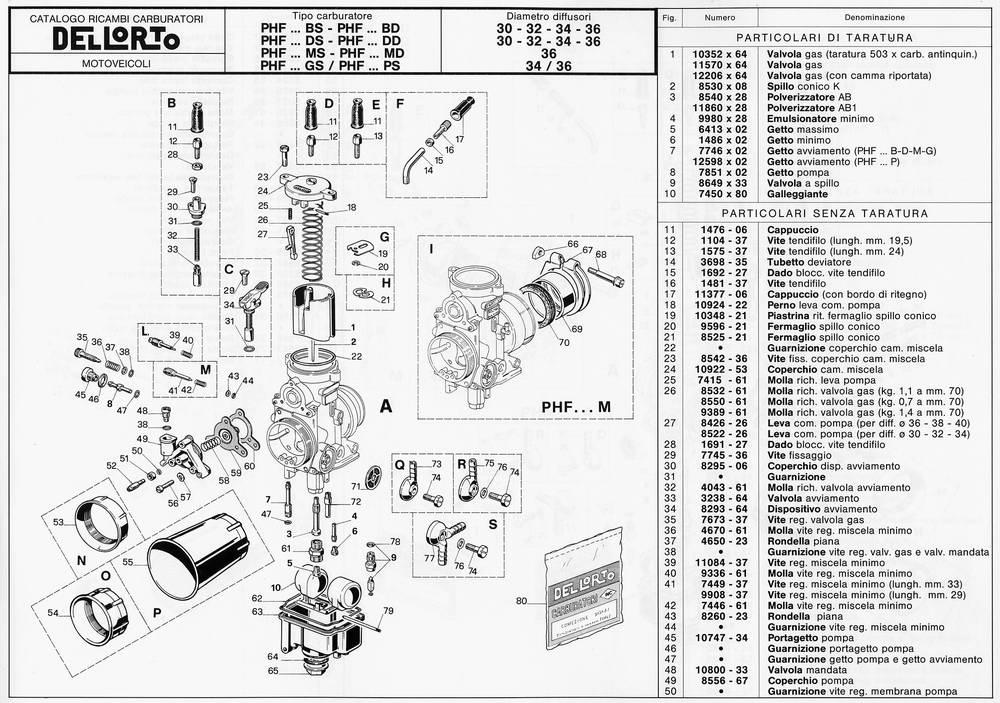 Dellorto Phf 30 Parts